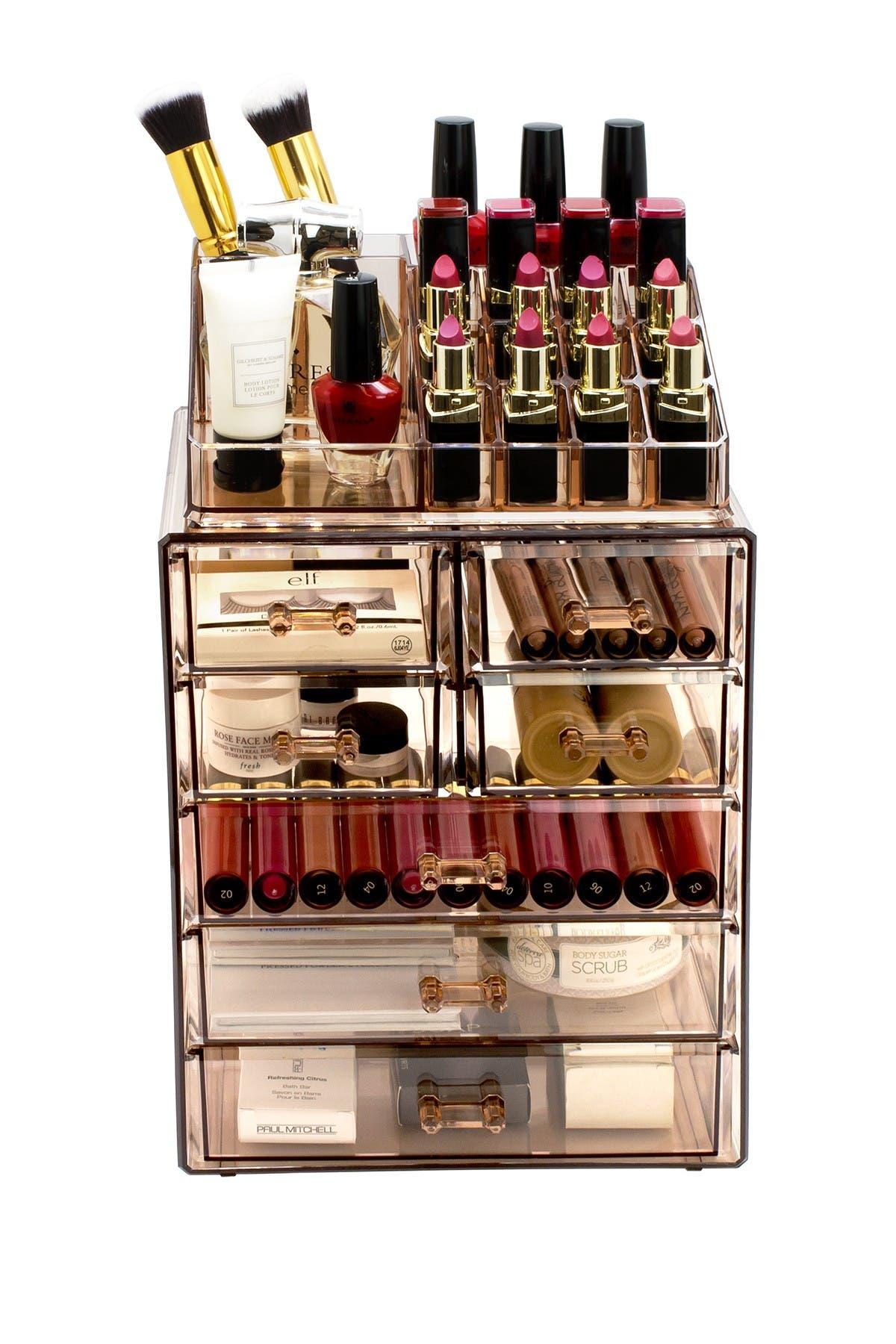 Image of Sorbus Makeup Storage Case - Brown