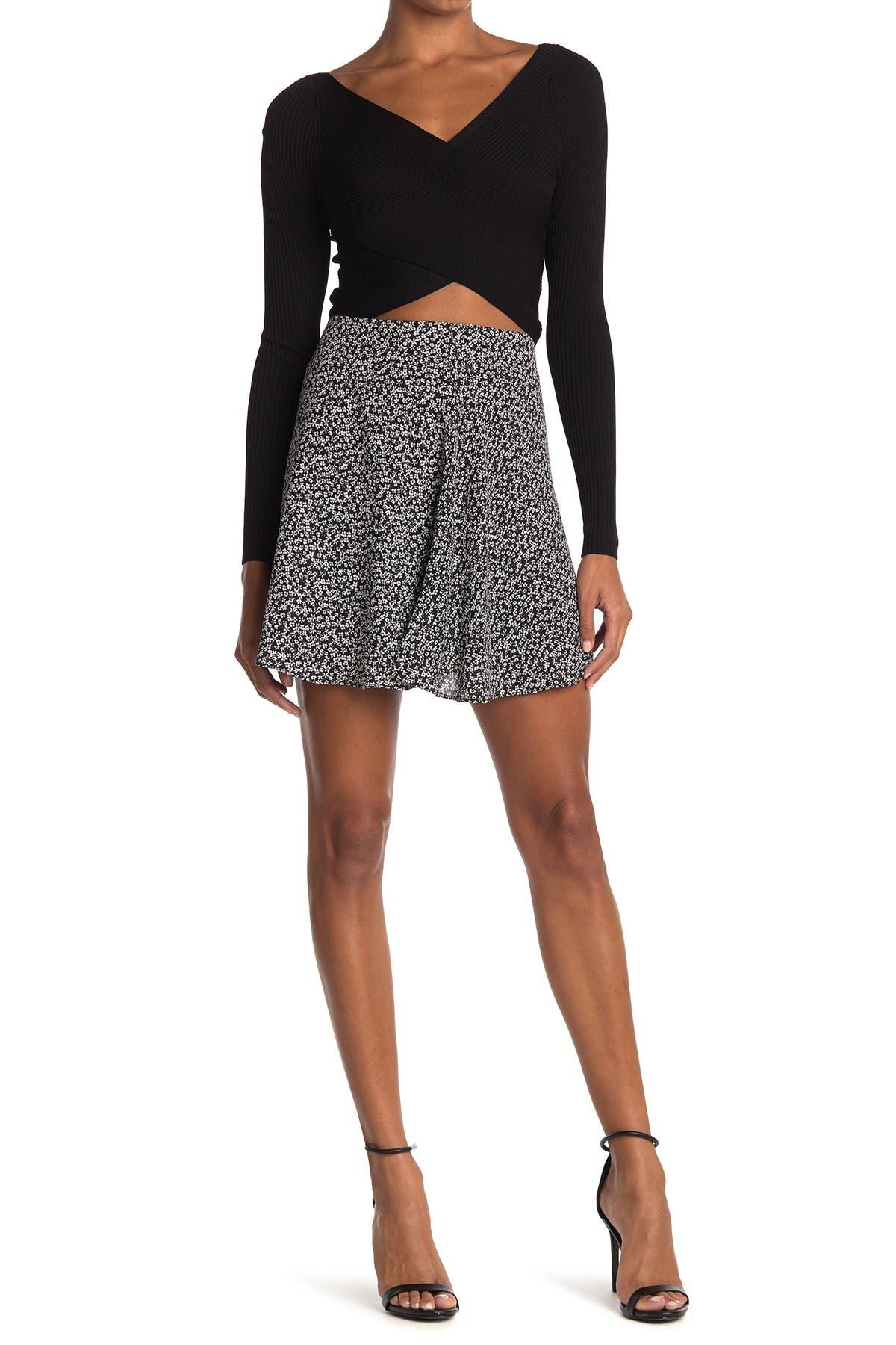 Image of Socialite Floral Print Skater Skirt