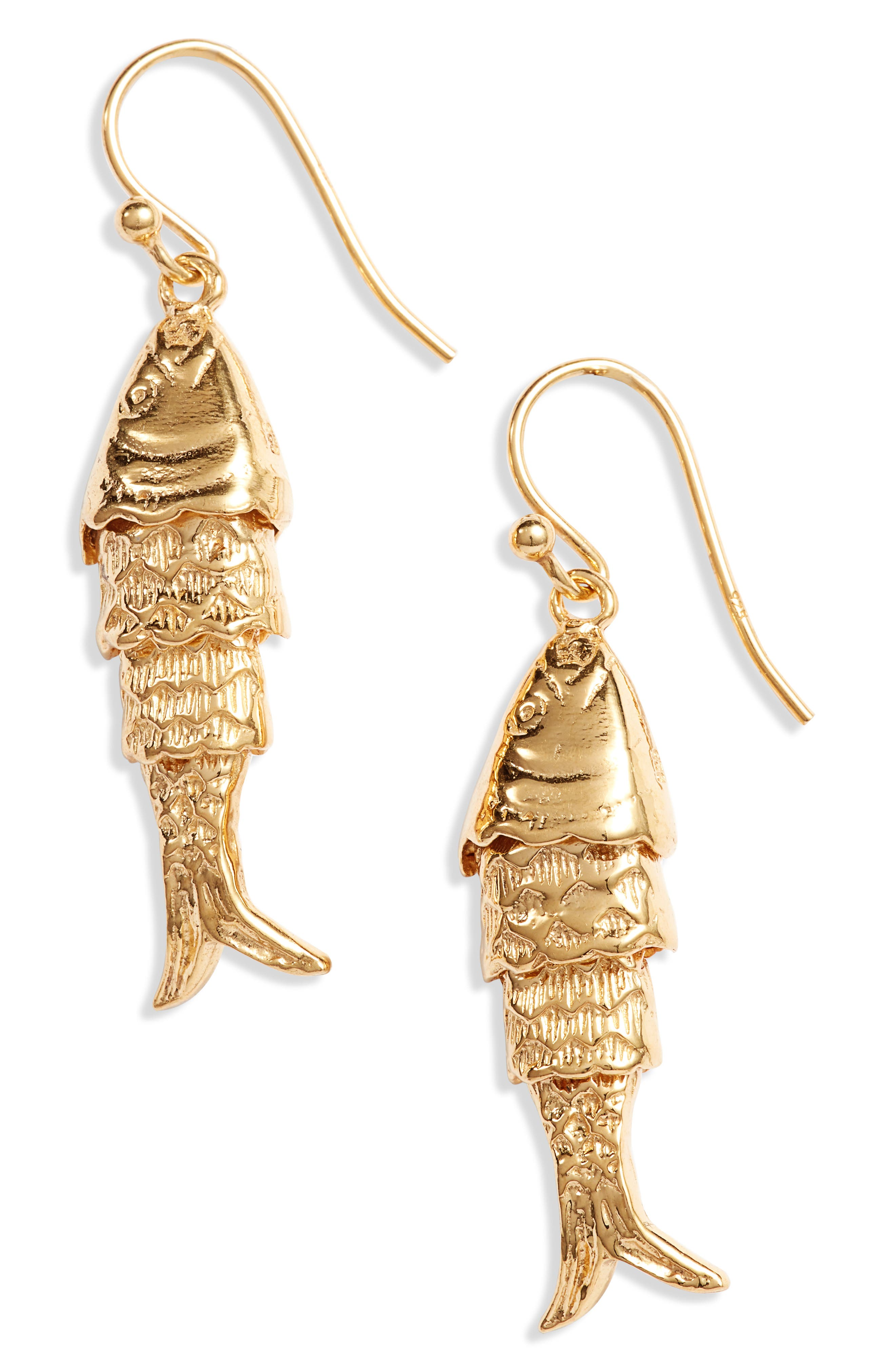 Fish Drop Earrings