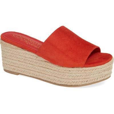 Coconuts By Matisse Sandy Platform Slide Sandal, Red