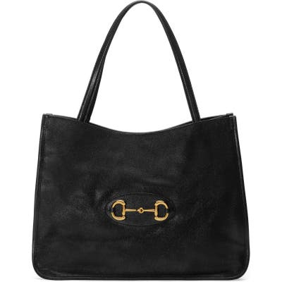 Gucci 1955 Horsebit Leather Tote - Black