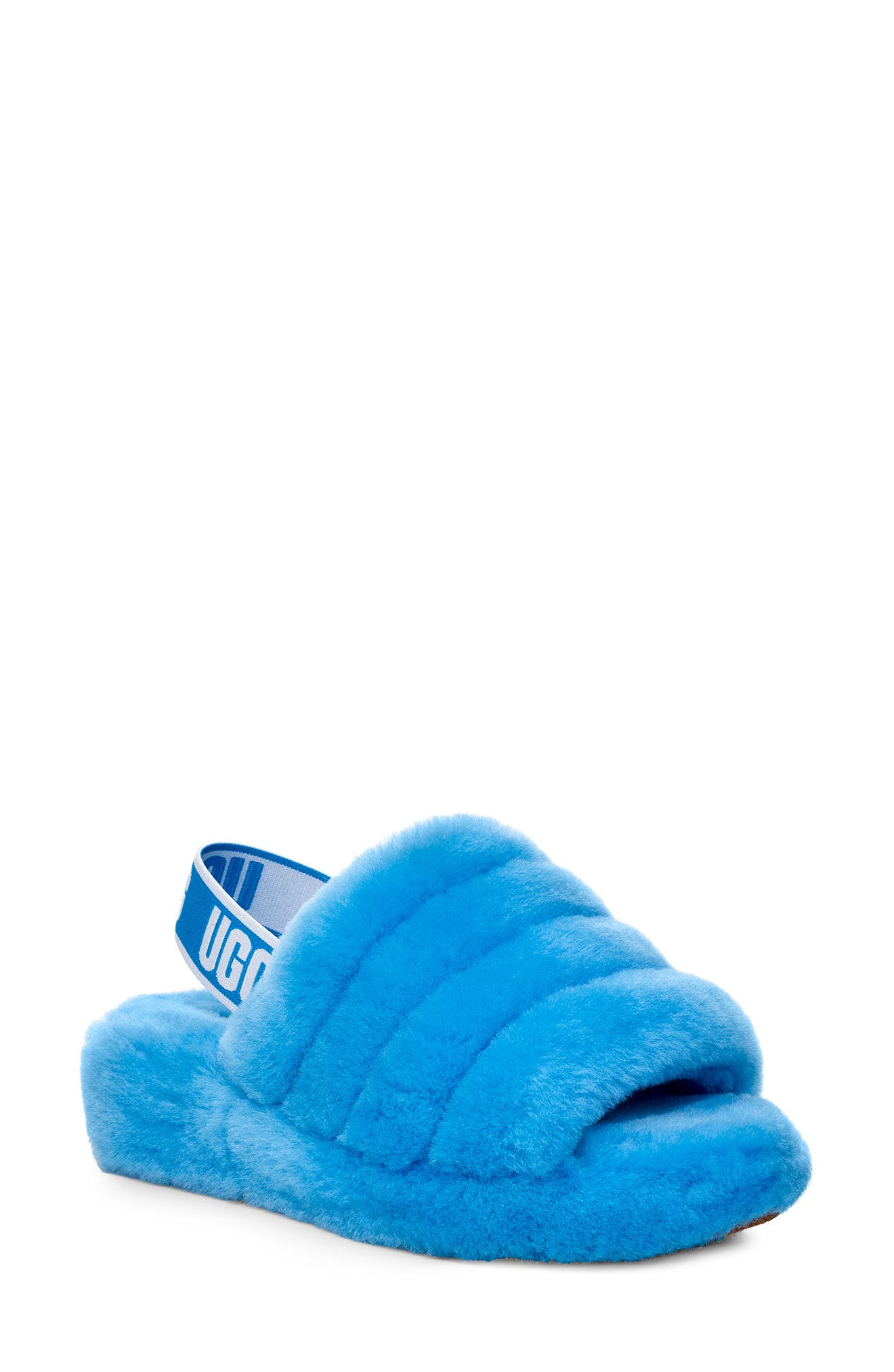 Ugg Fluff Yeah Genuine Shearling Slipper, Blue