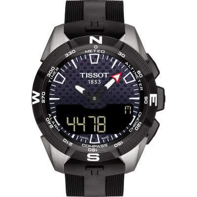 Tissot T-Touch Expert Solar Ii Multifunction Rubber Strap Watch, 45Mm
