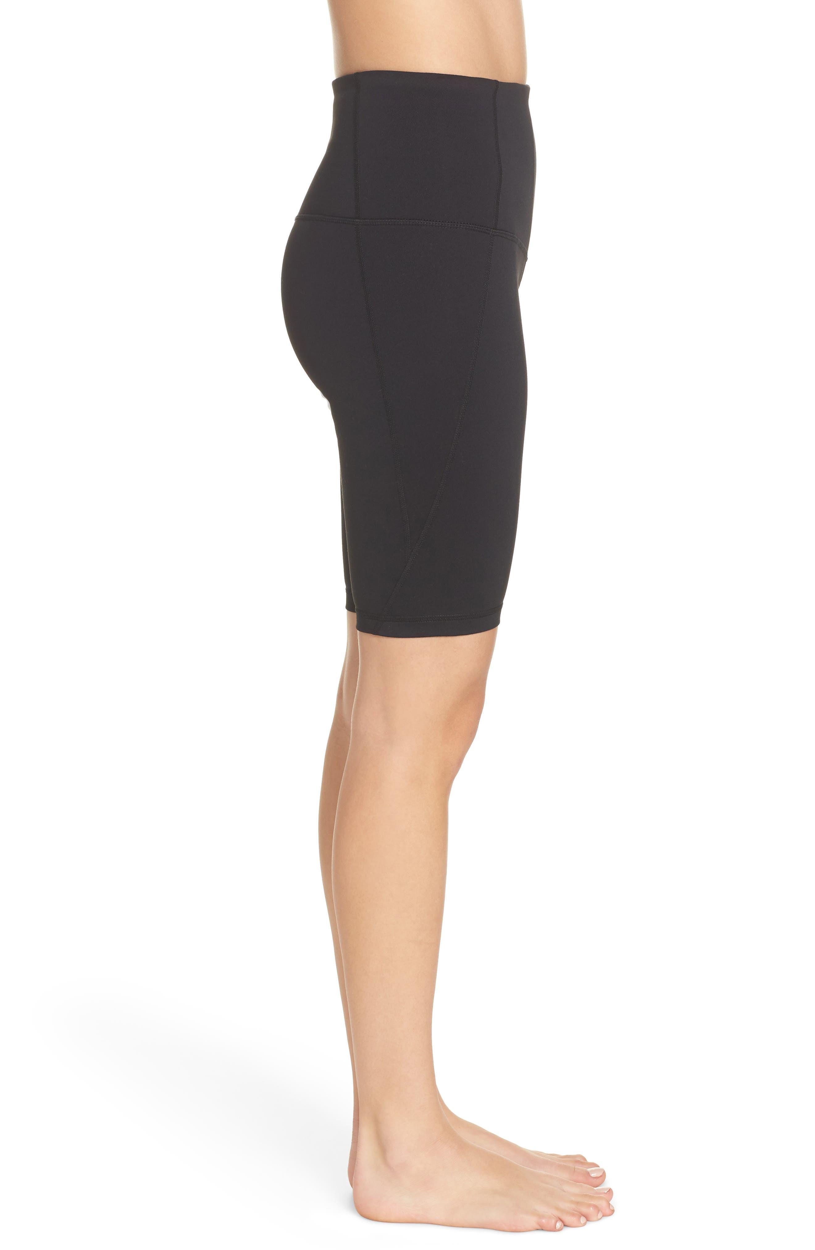 ,                             Hatha High Waist Bike Shorts,                             Alternate thumbnail 4, color,                             BLACK