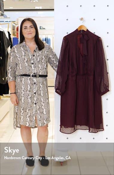 Swiss Dot Long Sleeve A-Line Dress, sales video thumbnail