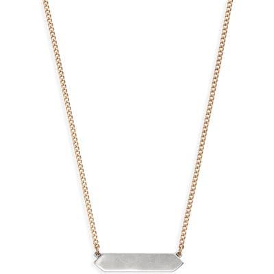 Allsaints Two-Tone Geometric Pendant Necklace