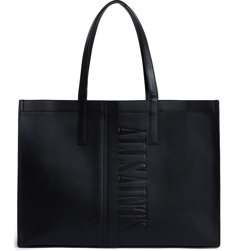 ALLSAINTS Nina Leather East/West Tote, Main, color, 001
