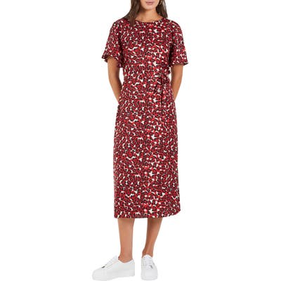 Cooper St Walk This Way Print Midi Dress, Red