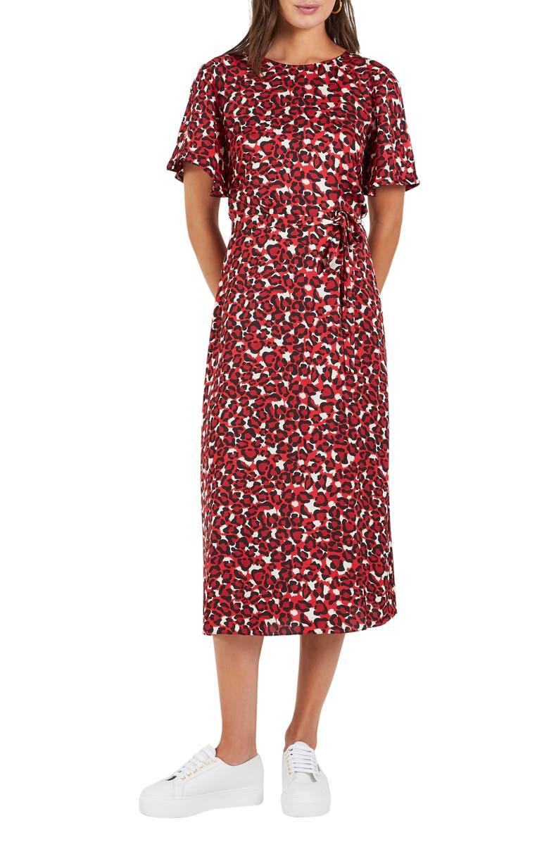 COOPER ST Walk This Way Print Midi Dress, Main, color, 600