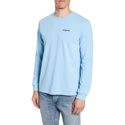 Patagonia Fitz Roy Horizons Graphic Long Sleeve Responsibili-Tee T-Shirt, Blue