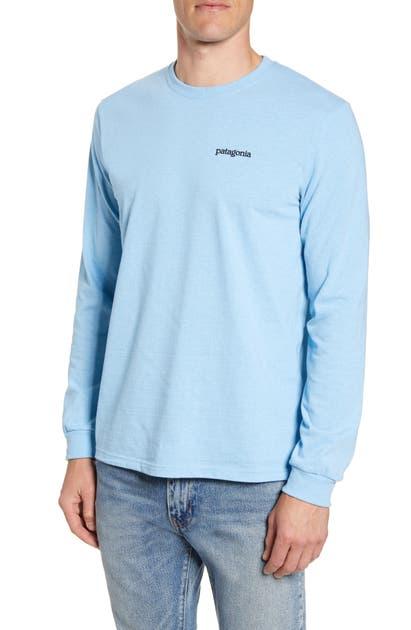 Patagonia Fitz Roy Horizons Graphic Long Sleeve Responsibili-Tee T-Shirt In Break Up Blue