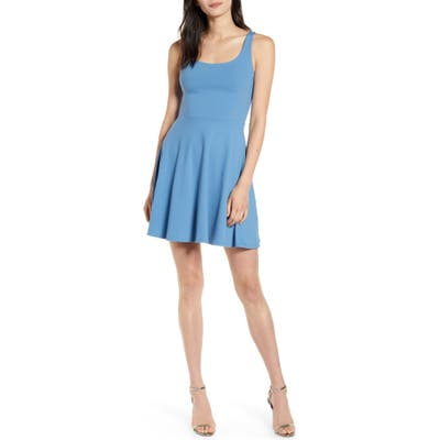 Susana Monaco Knit Tank Skater Dress, Blue