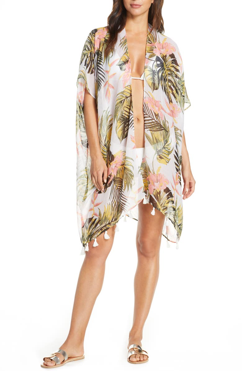 POOL TO PARTY Morning Breeze Cover-Up, Main, color, GREEN