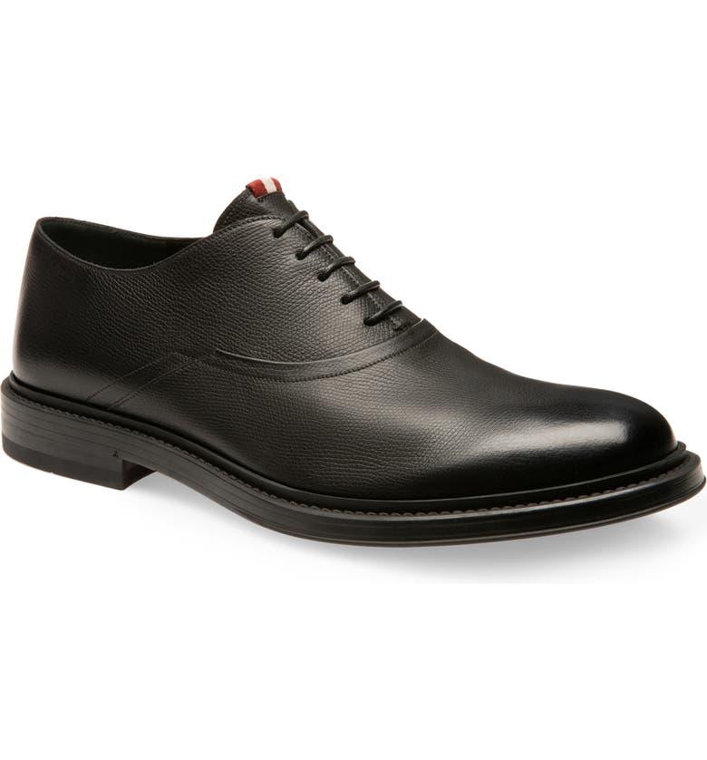 BALLY Nice Plain Toe Oxford, Main, color, BLACK