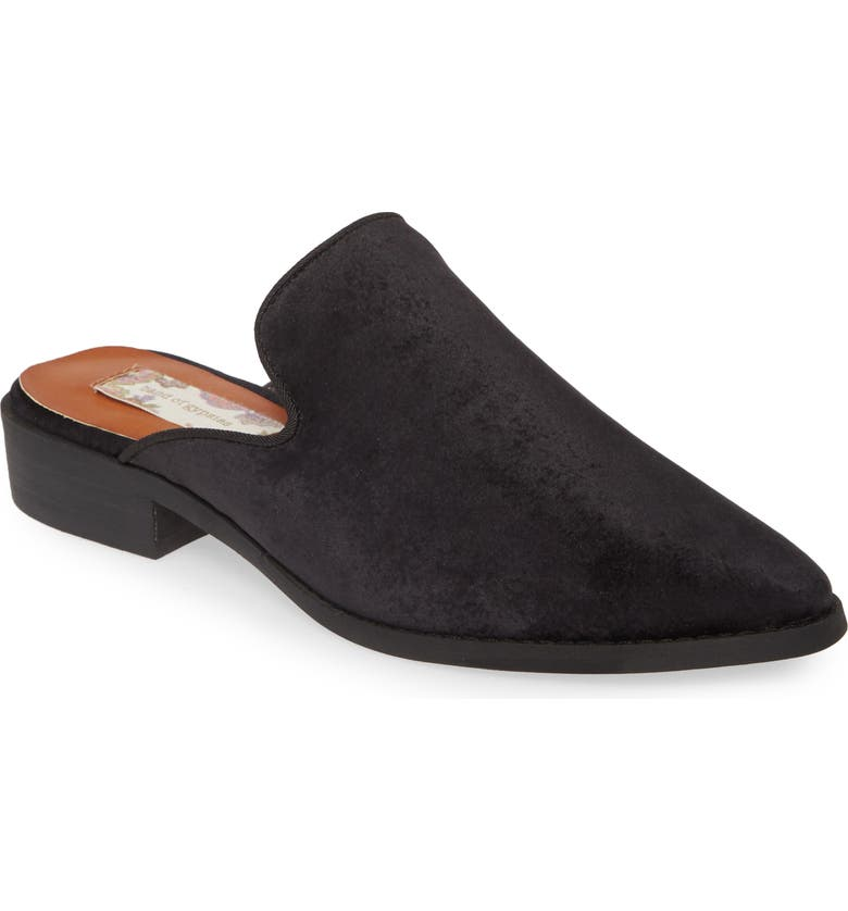BAND OF GYPSIES Skipper Velvet Mule, Main, color, BLACK