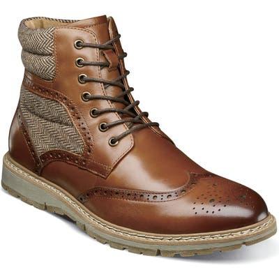 Stacy Adams Granger Wingtip Boot, Brown