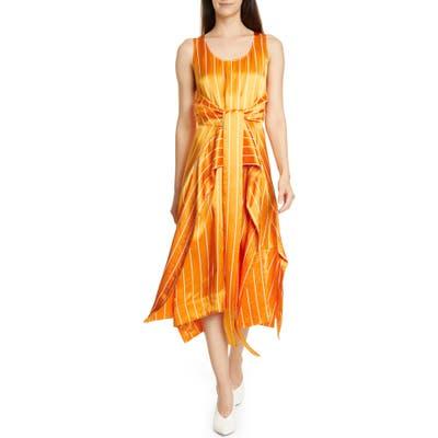 Hugo Kabilly Faux Wrap Party Dress, Orange