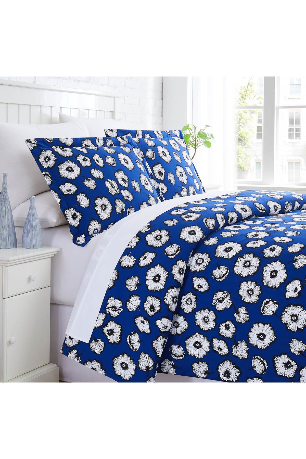 Image of SOUTHSHORE FINE LINENS Essence Duvet Cover Set - Blue - Full/Queen