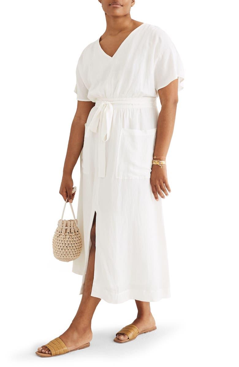 MADEWELL Sleeveless Yoke Minidress, Main, color, LIGHTHOUSE