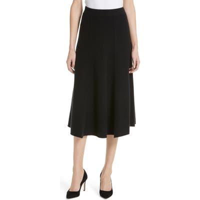 Nordstrom Signature Cashmere Midi Skirt, Black