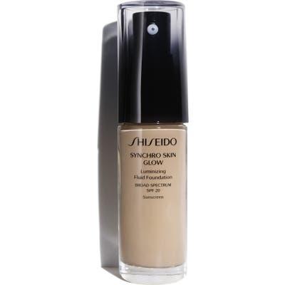 Shiseido Synchro Skin Glow Luminizing Fluid Foundation Broad Spectrum Spf 20 - N3