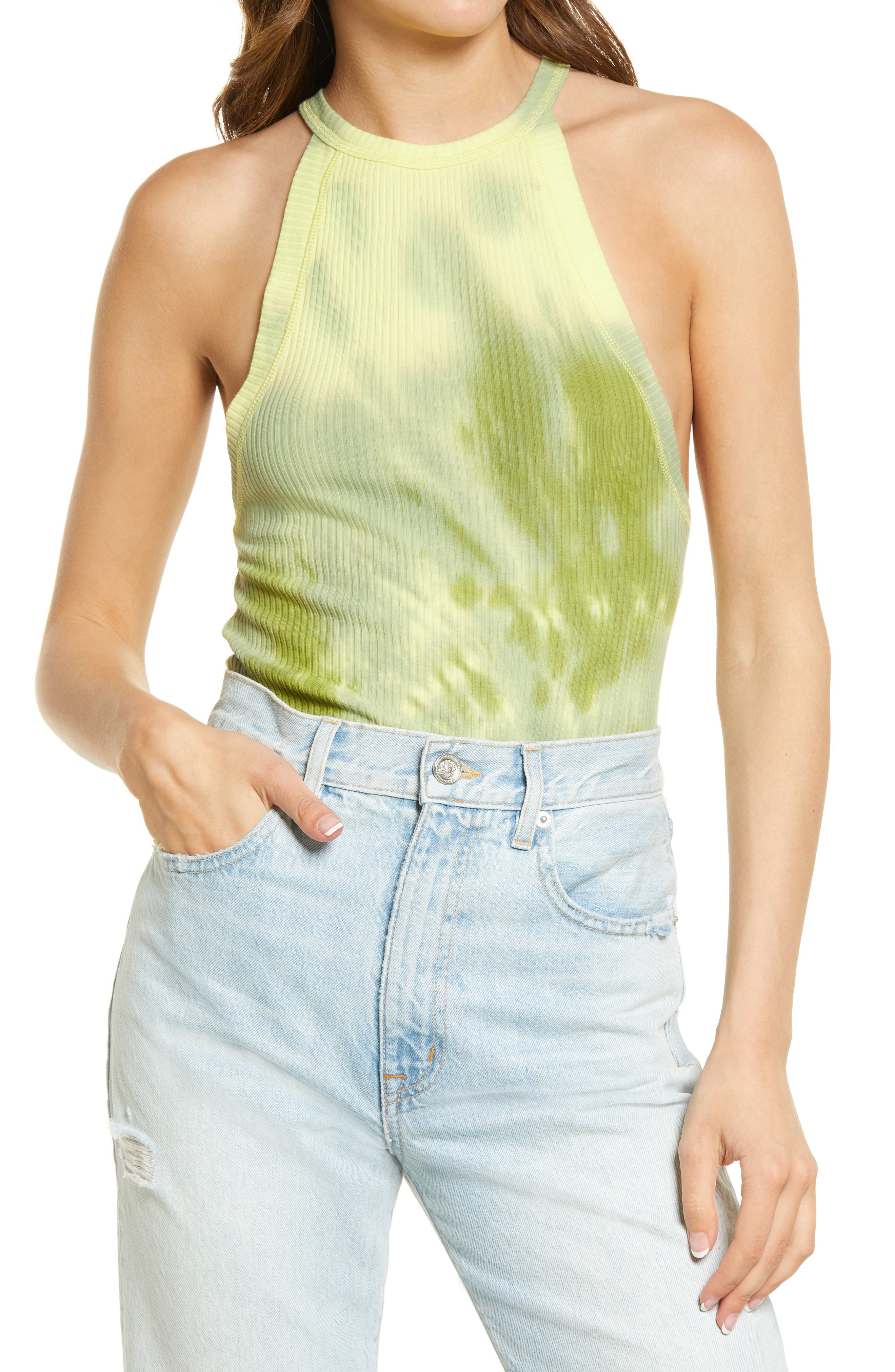 Details about  /Free People Green Combo Tank Melbourne