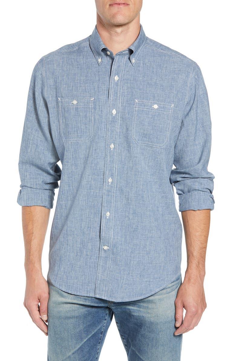 SOUTHERN TIDE Regular Fit Dock Sport Shirt, Main, color, 425