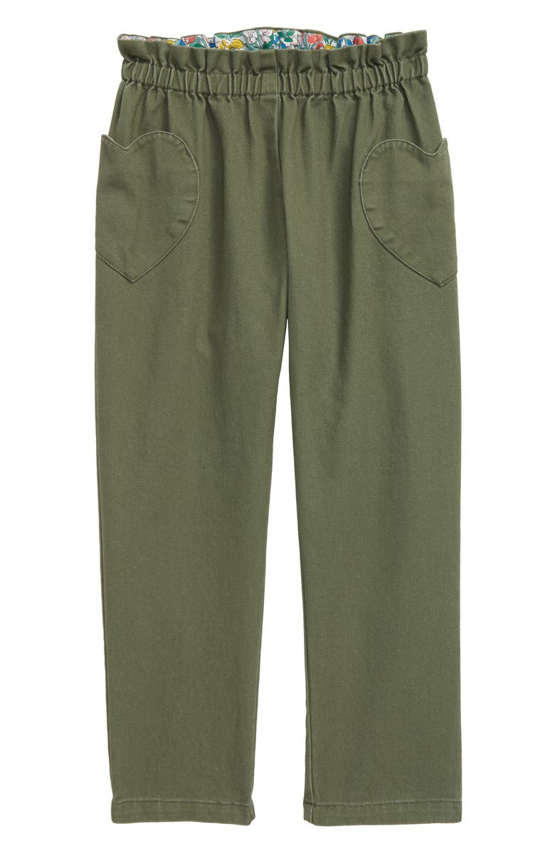 MINI BODEN Boden Pull-On Trousers, Main, color, HERB GREEN