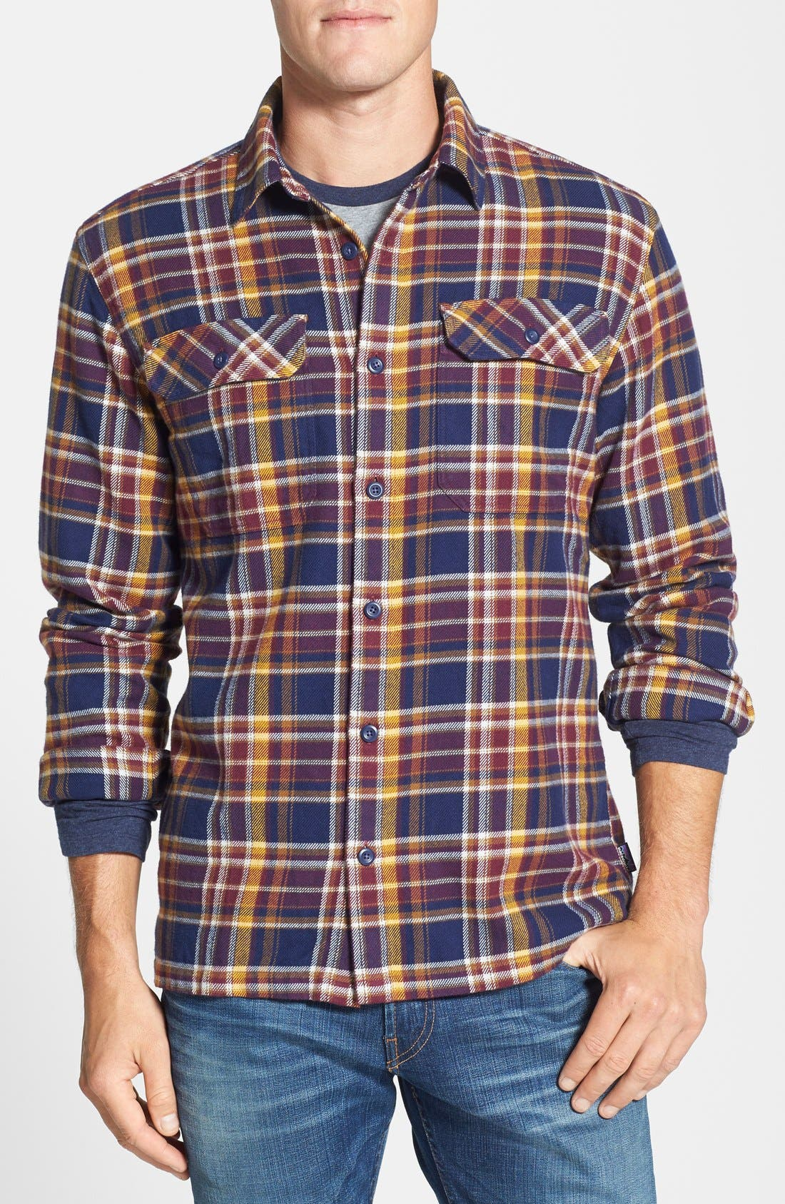 ,                             'Fjord' Regular Fit Organic Cotton Flannel Shirt,                             Main thumbnail 119, color,                             411