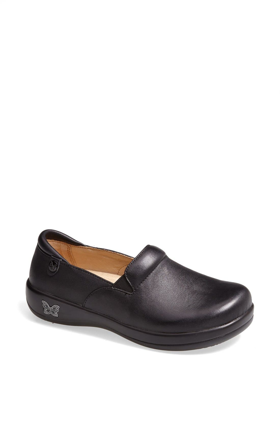 A lightweight rocker platform perfects the all-day ease of a feminine clog designed with plenty of plush, memory-foam cushioning. Style Name: Alegria \\\'Keli\\\' Embossed Clog. Style Number: 986345. Available in stores.