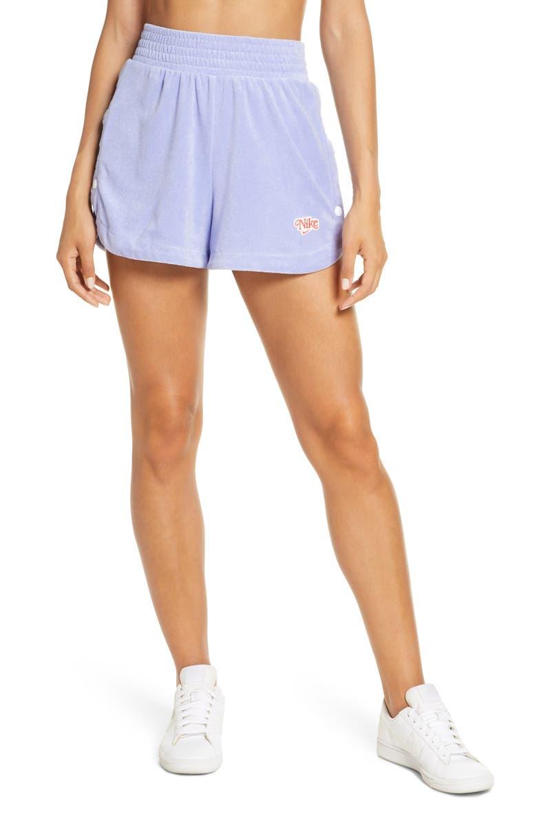 NIKE Sportswear Retro Terry Shorts, Main, color, 500