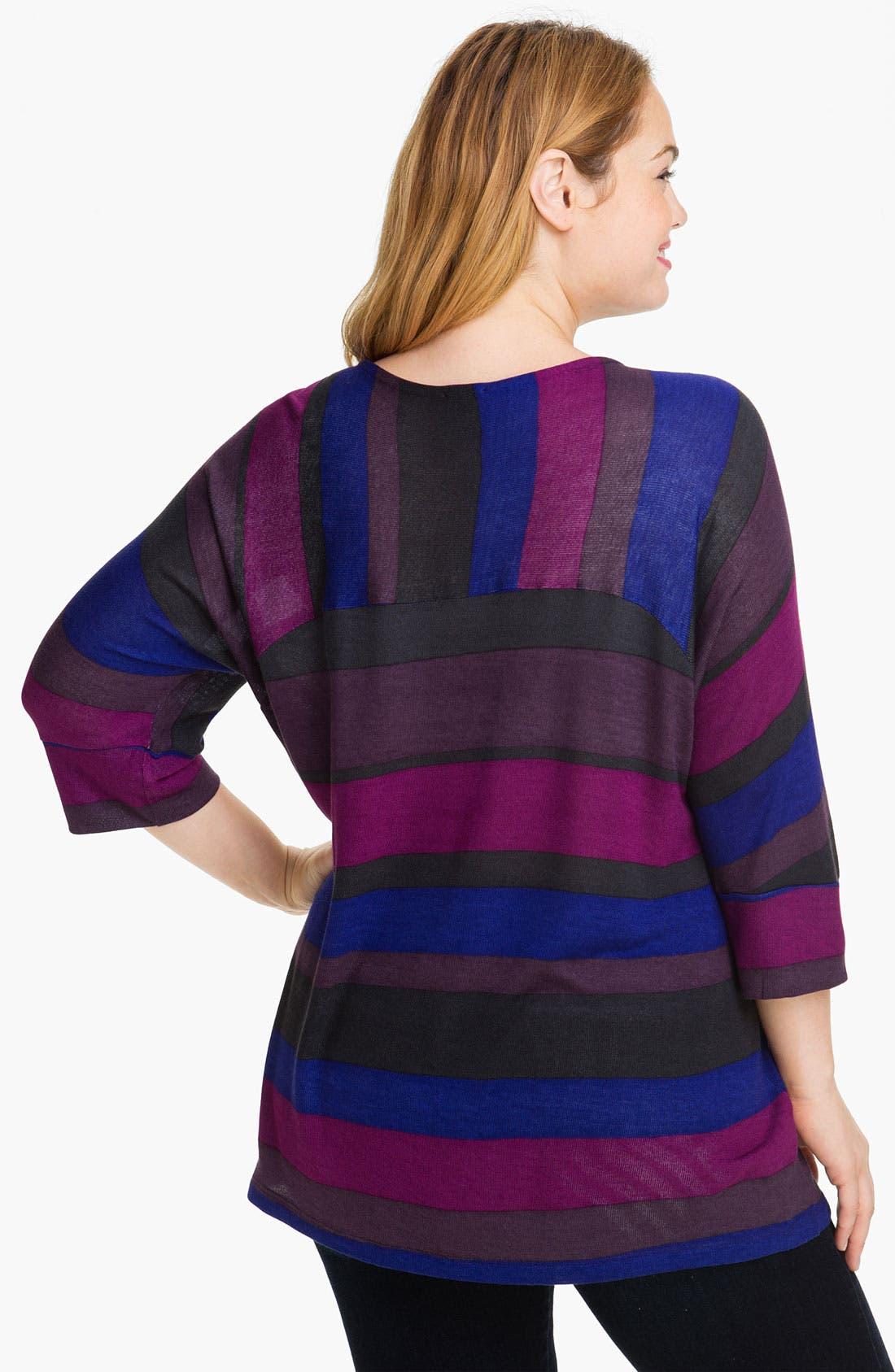 ,                             Stripe Knit Top,                             Alternate thumbnail 3, color,                             400