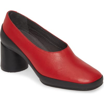 Camper Upright Column Heel Pump, Red
