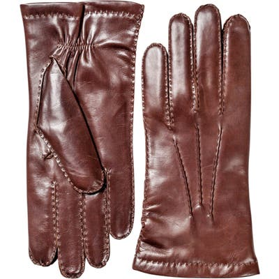 Hestra Leather Gloves, Size L (9) - Red