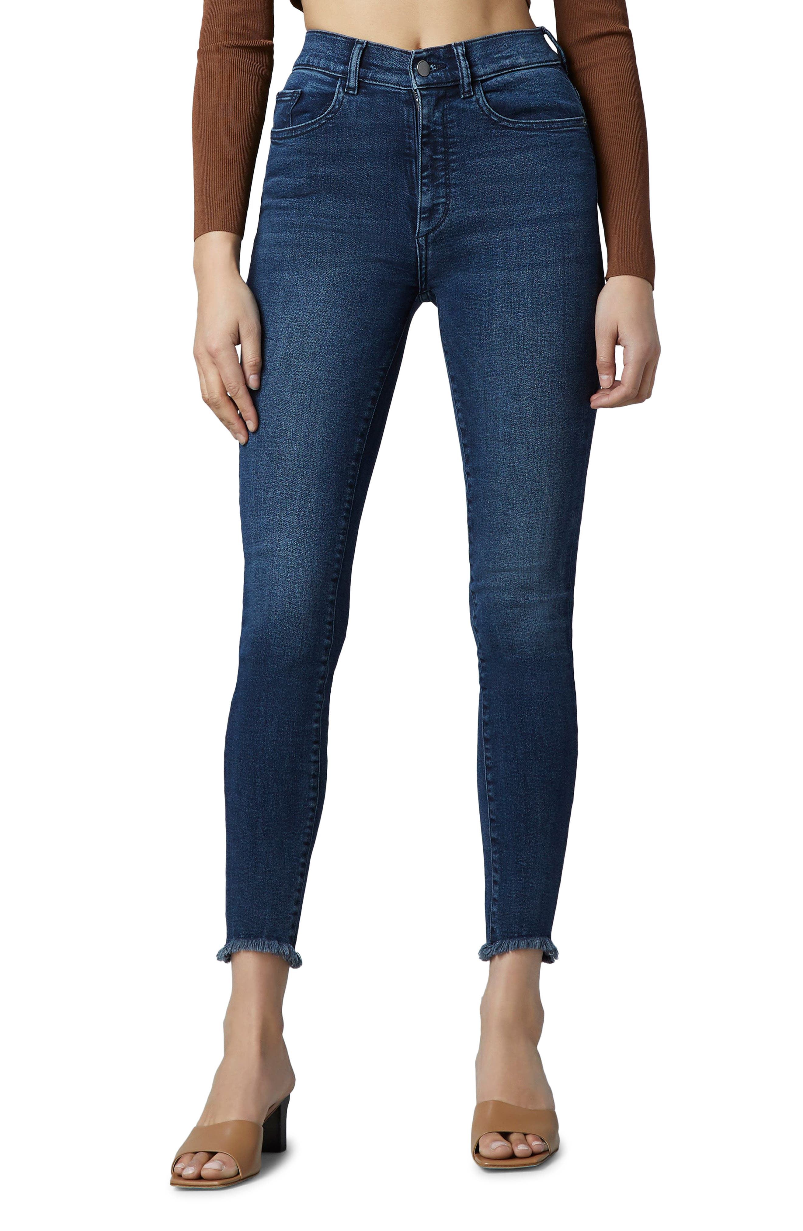 1961 Farrow Instasculpt Frayed High Waist Ankle Skinny Jeans