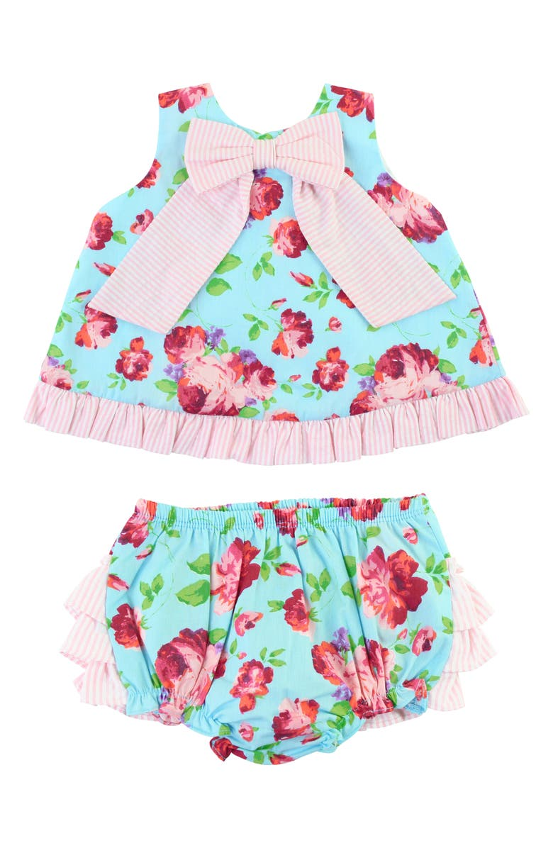 RUFFLEBUTTS Life Is Rosy Swing Top & Bloomers Set, Main, color, PINK