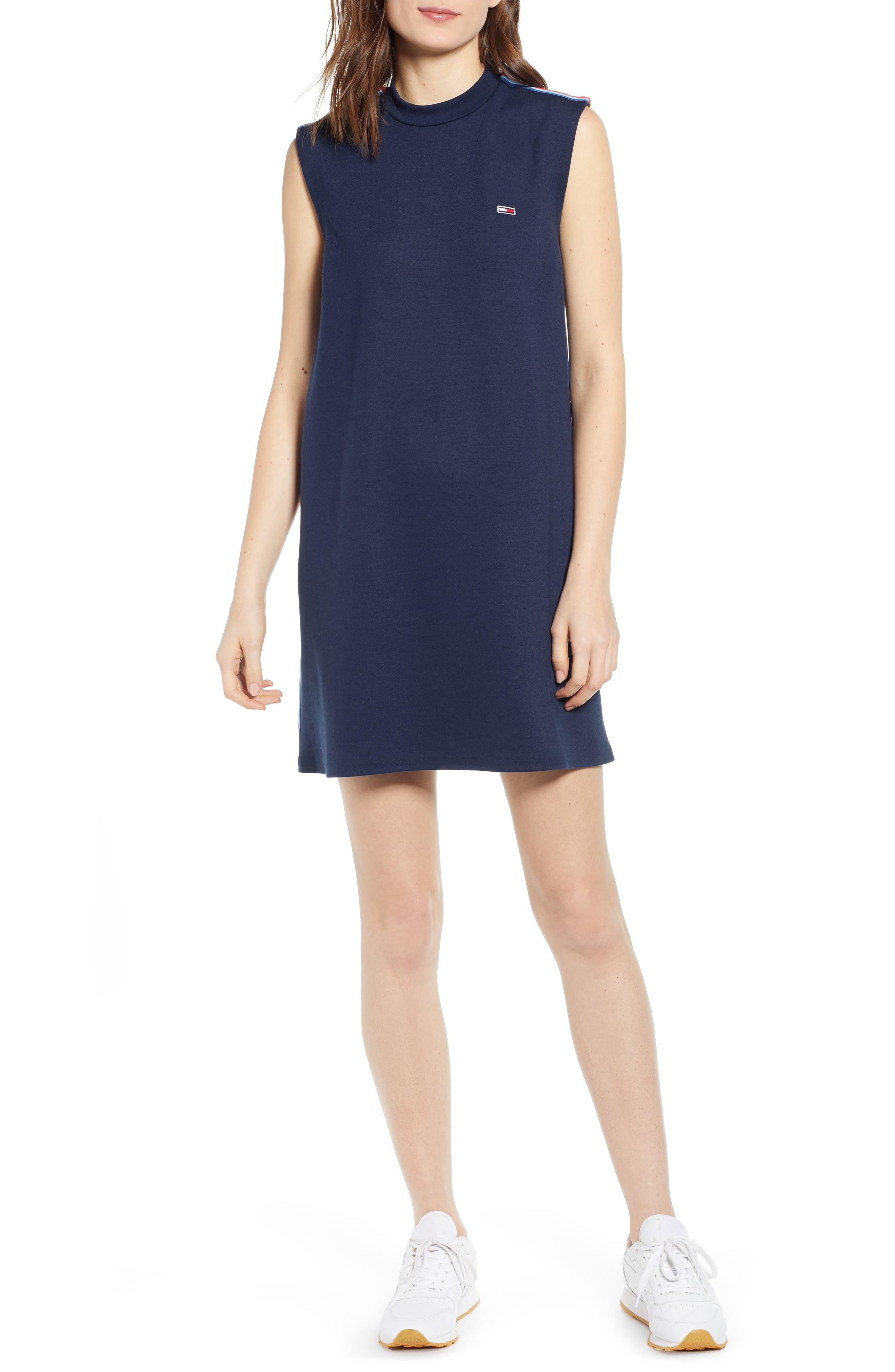Tommy Jeans Tjw Side Tape Tank Dress, Blue