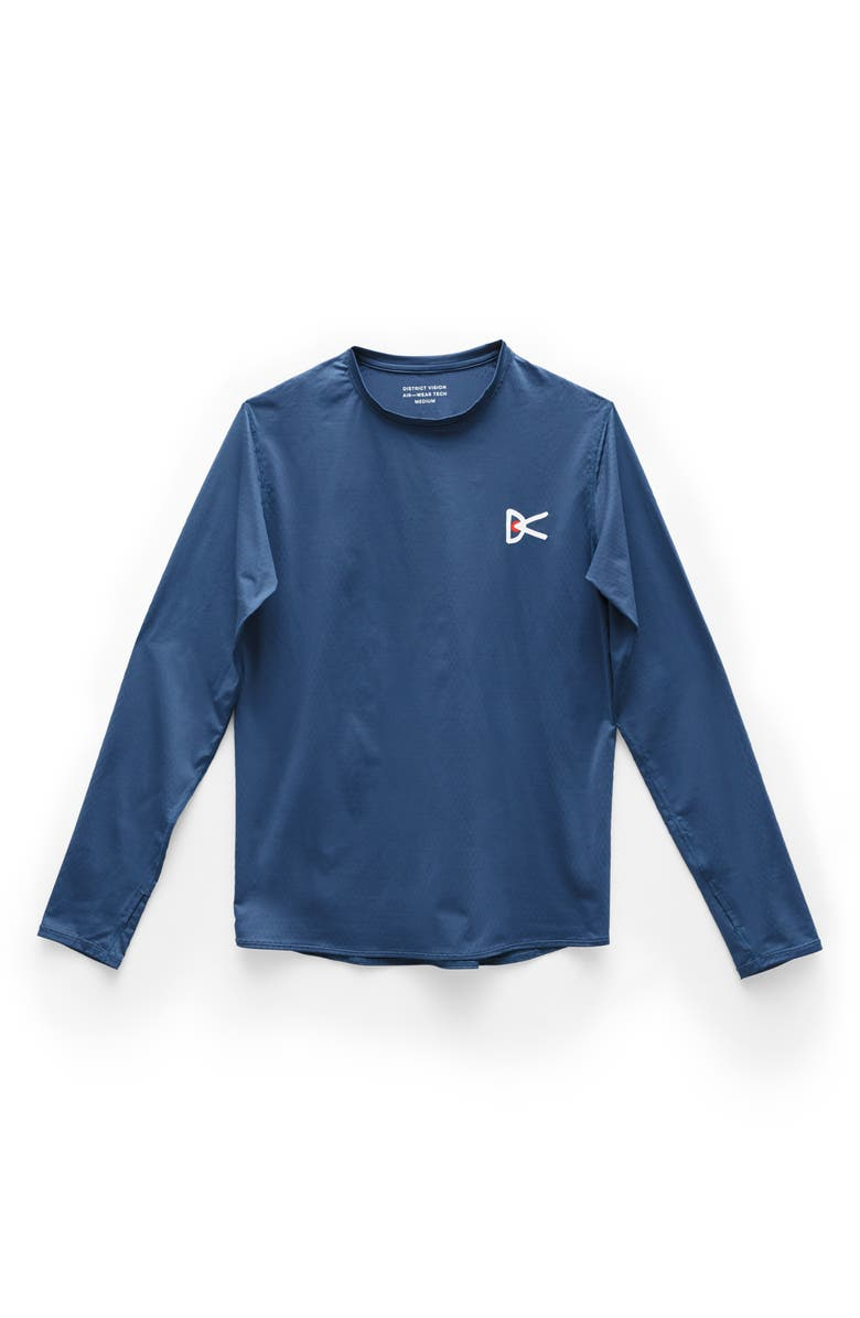 DISTRICT VISION Air—Wear Performance Long Sleeve Tee, Main, color, BLUE