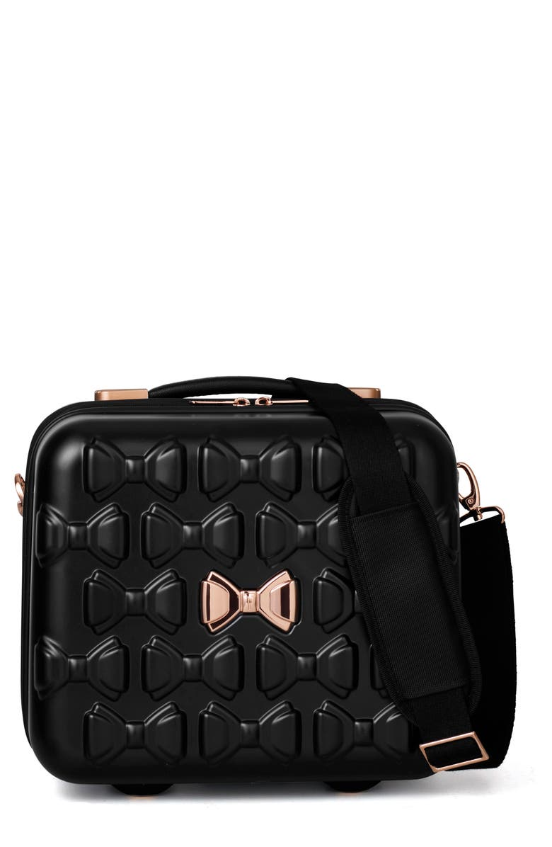 TED BAKER LONDON Beau Hard Side Vanity Case, Main, color, BLACK