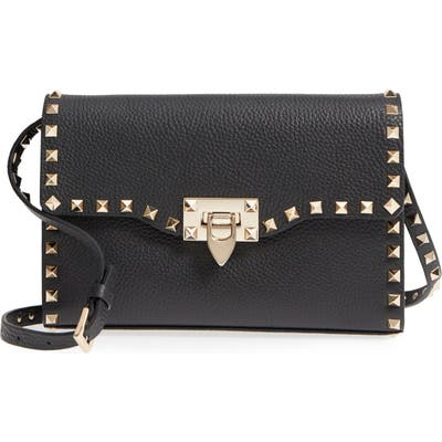 Valentino Garavani Medium Rockstud Leather Crossbody Bag -