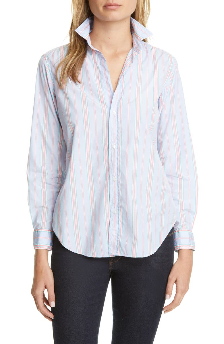FRANK & EILEEN Multi Stripe Button-Up Shirt, Main, color, 400
