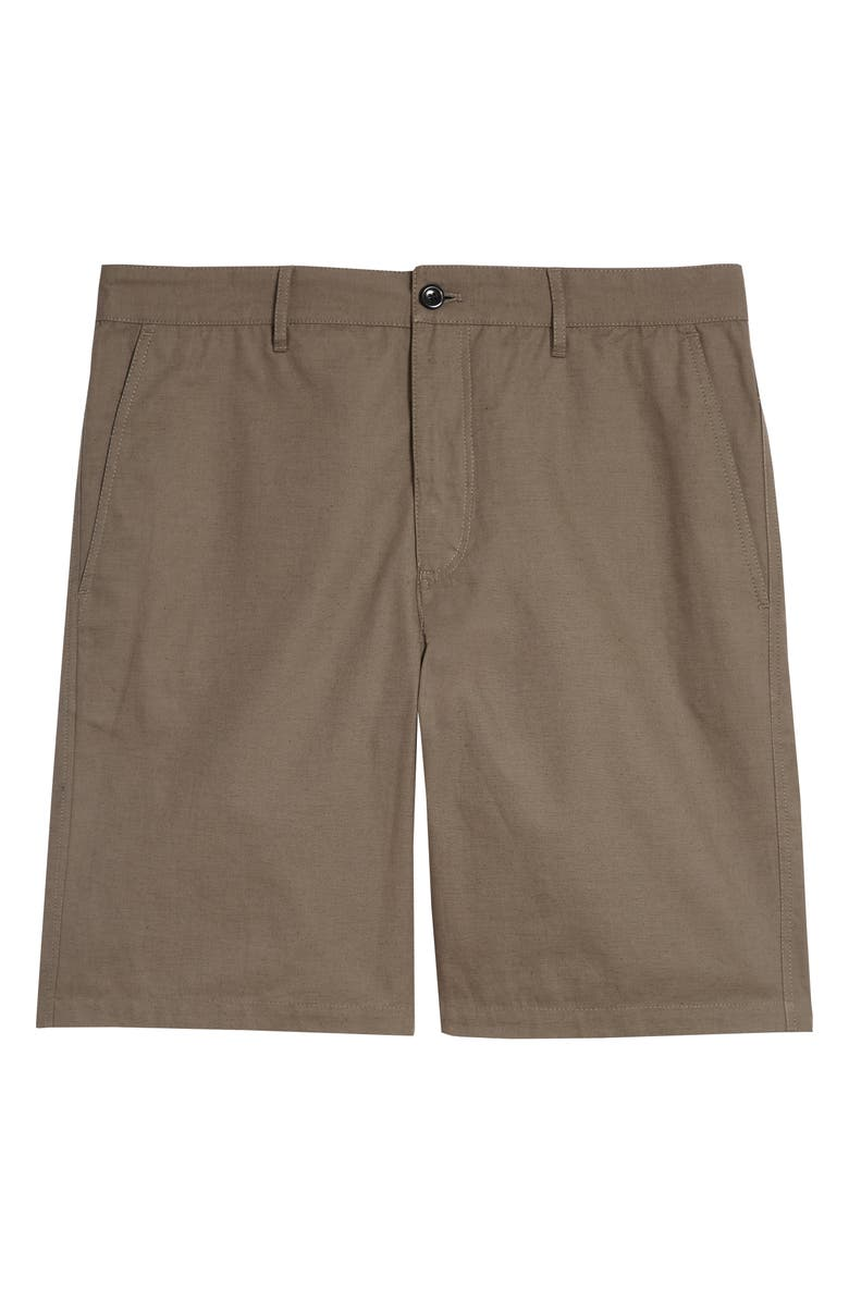 NORSE PROJECTS Josef Cotton & Linen Shorts, Main, color, TAUPE