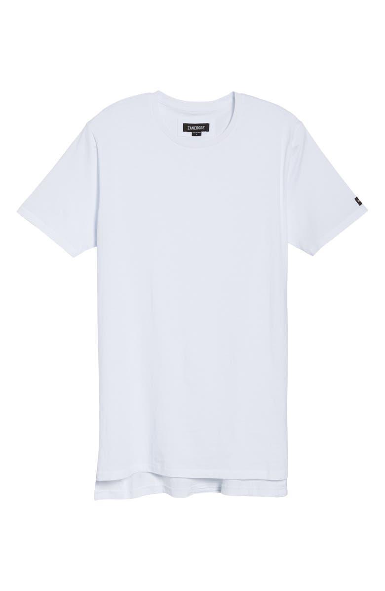 ZANEROBE Flintlock Longline T-Shirt, Main, color, WHITE