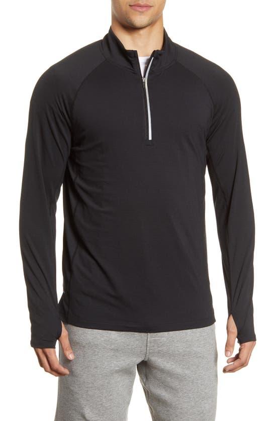 Fourlaps Men's Level Tech Half-zip Sweater In Black
