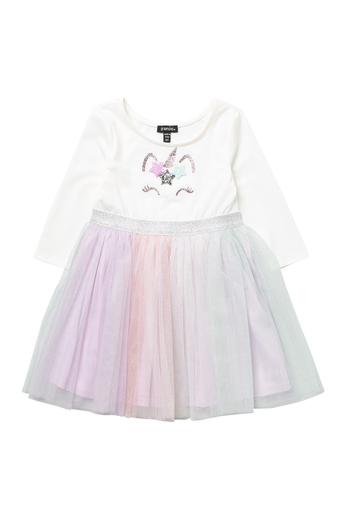 Image of Zunie 3/4 Sleeve Unicorn Bodice Dress