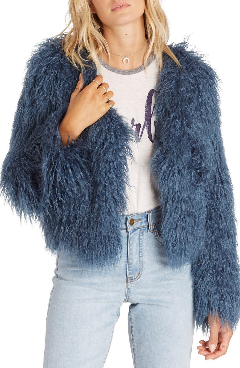 BILLABONG Waiting For You Faux Fur Jacket, Main, color, 403