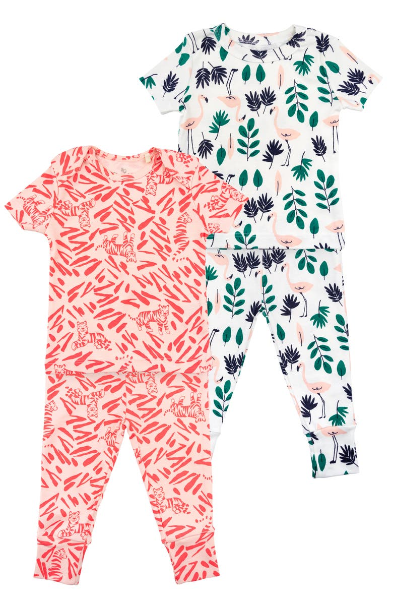 2 Pack Organic Cotton Fitted Two Piece Pajamas by Oliver & Rain
