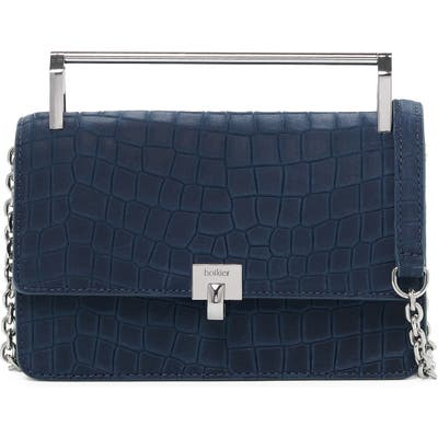 Botkier Lennox Leather Crossbody Bag - Blue