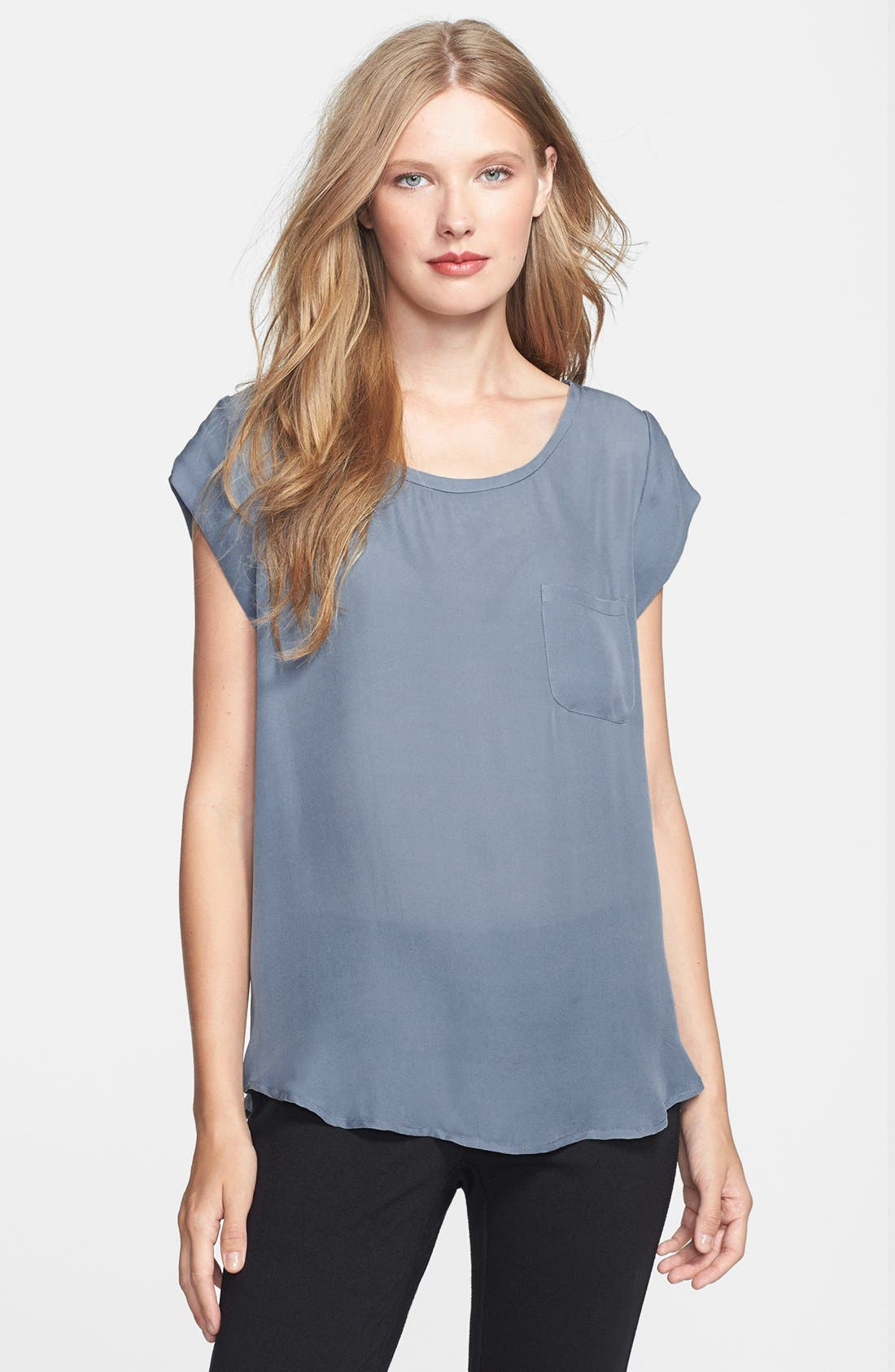 Image of Joie Rancher Silk Pocket Tee