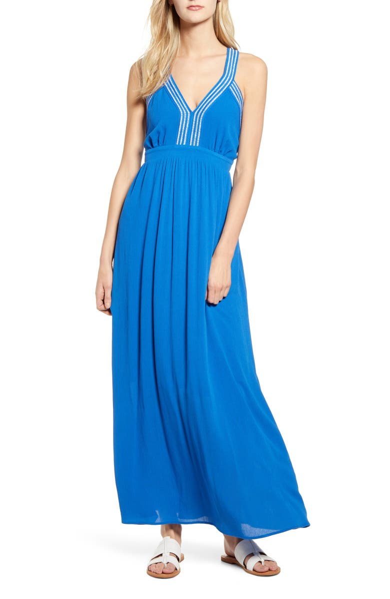 GIBSON x Hi Sugarplum! Santorini Adjustable Strap Maxi Dress, Main, color, 466